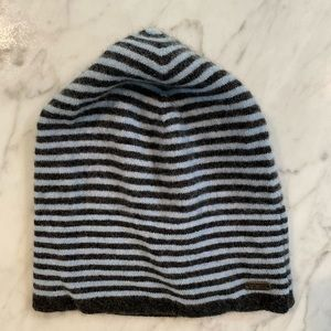 Pistil knit hat beanie blue gray stripe
